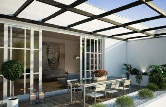 Terrasse puristisch gestalten