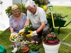 Gartenarbeit im Alter