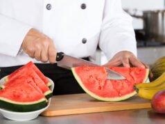 Melone schneiden