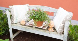 Gartenbank Vintage bauen