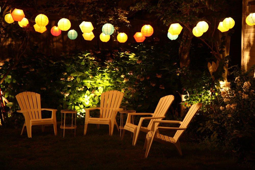 Gartenhaus Lichterkette
