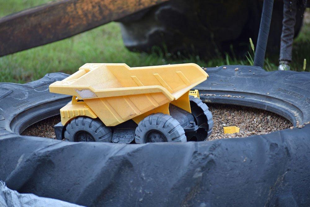 Sandpit tractor tires