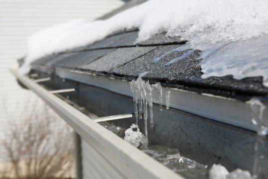 Dachrinne vor Frost schützen
