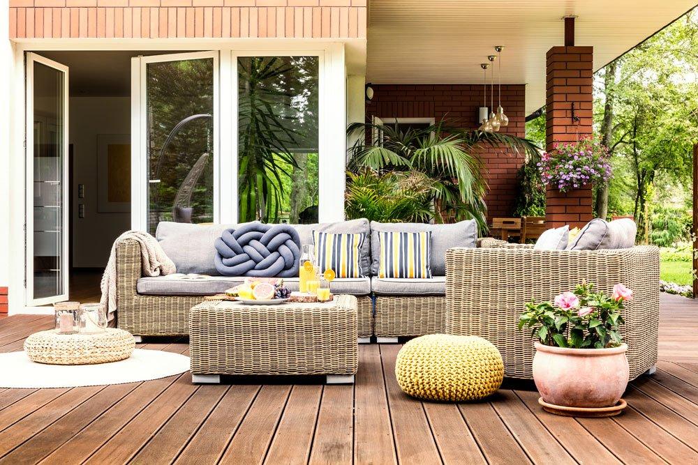 Outdoor-Wohnzimmer Deko