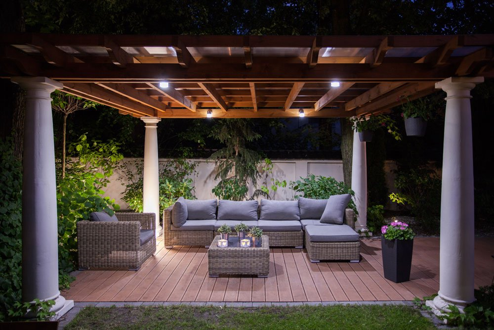Outdoor-Wohnzimmer Sonnenschutz