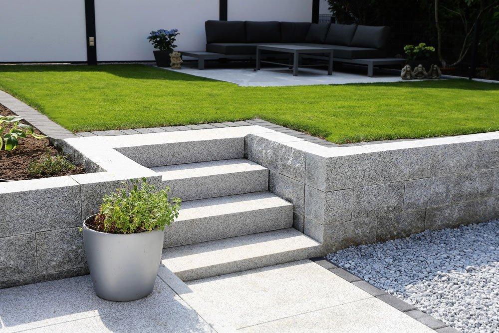 Gartentreppe - Blockstufen