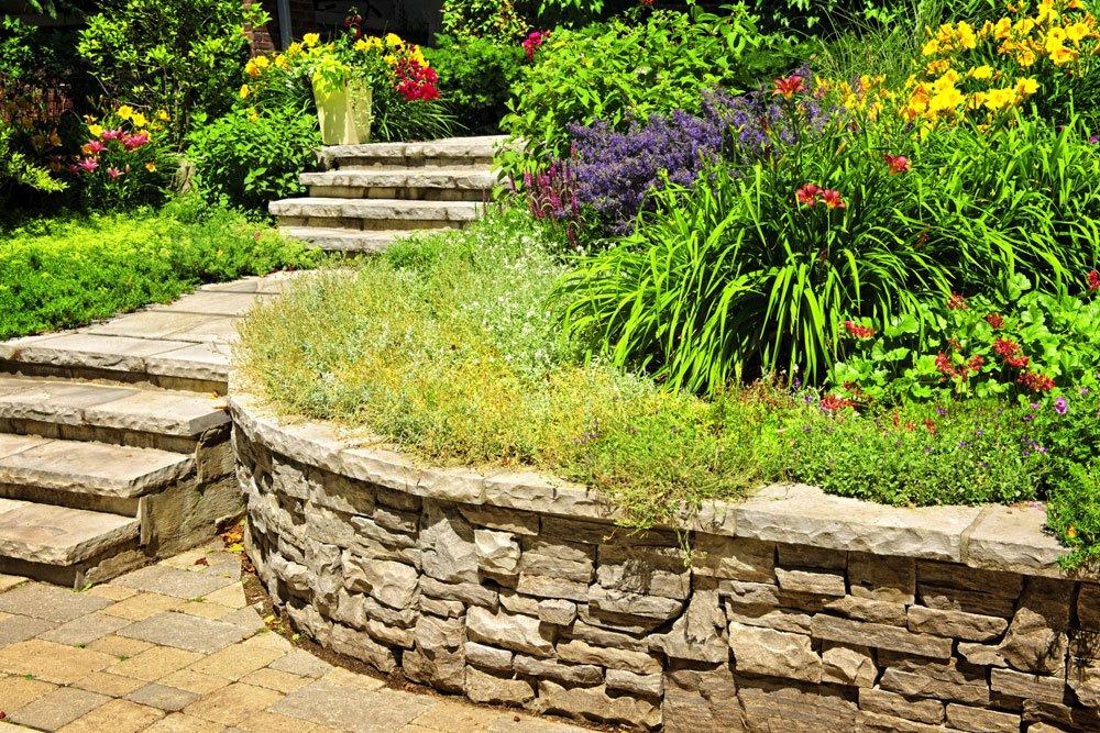 Gartentreppe freistehend