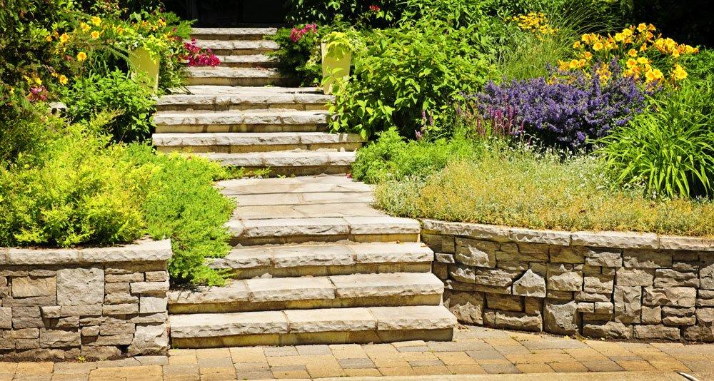 Gartentreppe - Legstufen