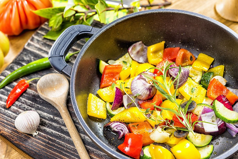 Gemüse Tomatensoße