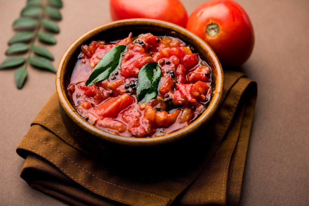 Tomaten-Chutney mit Sellerie