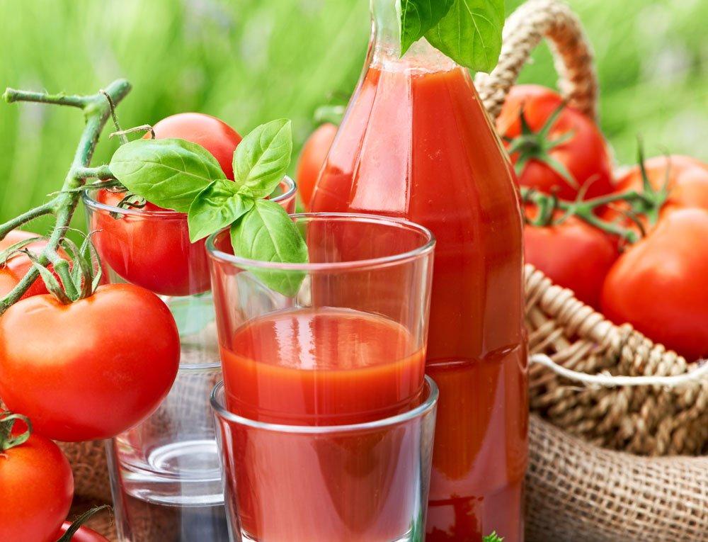 Tomatensaft selber machen - Basilikum