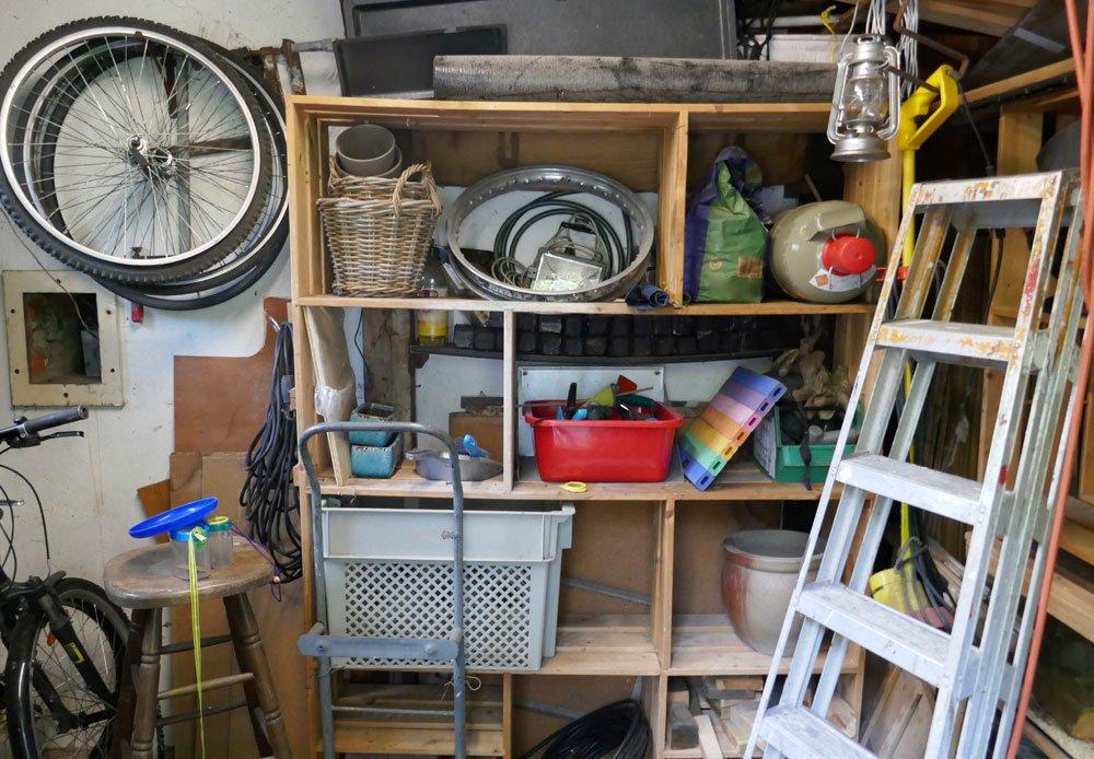 Gartengeräte aufbewahren Keller