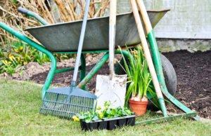Gartengeräte aufbewahren