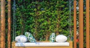Gartenpolster reinigen