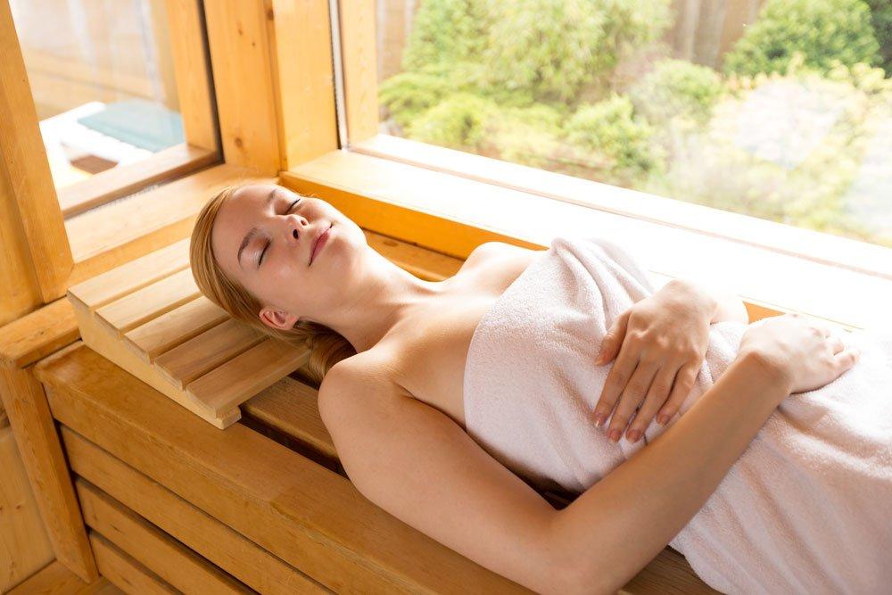 Sauna: Stress reduzieren