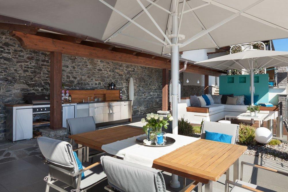 Luxus Garten Küche